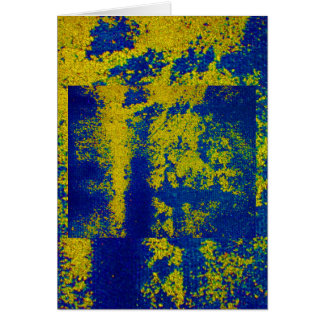 青い|金ゴールド|II グリーティング・カード