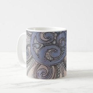"""青い""""頭脳波""""のデザインのマグ コーヒーマグカップ"""