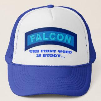 青い《鳥》ハヤブサの帽子 キャップ