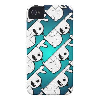 """青い""""B""""のバニーの電話箱 Case-Mate iPhone 4 ケース"""