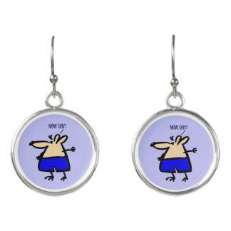 青いb/gのイヤリングの新しい日のおもしろいのマウス イヤリング