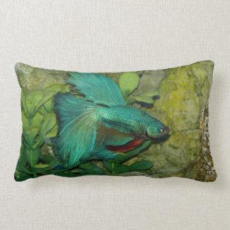 青いBettaの魚の枕 ランバークッション