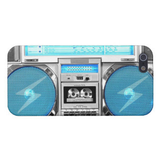 青いboombox iPhone 5 cover