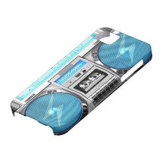 青いboombox iPhone SE/5/5s ケース