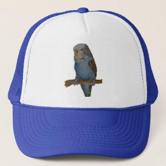 青いbudgieの芸術の帽子 キャップ