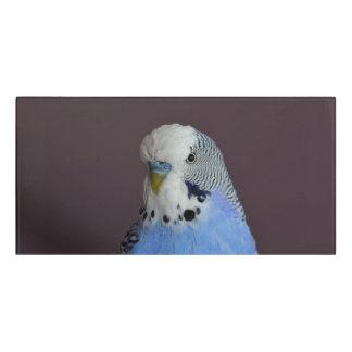 青いBudgieの鳥のオウム ドアサイン