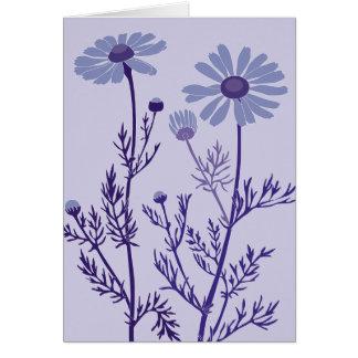 青いcamomile カード