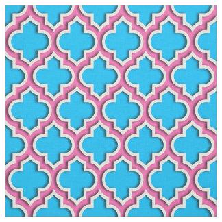 青いCapriショッキングピンクのモロッコのクローバー#5DS ファブリック