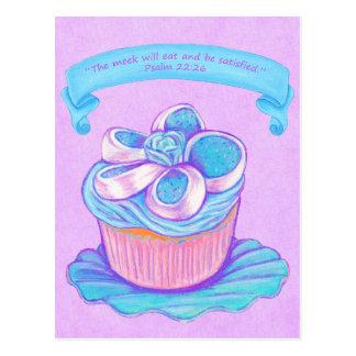青いCupcake~Meekは聖なる書物、経典の郵便はがきを食べます ポストカード