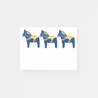 青いDalaの馬のポスト・イット ポストイット