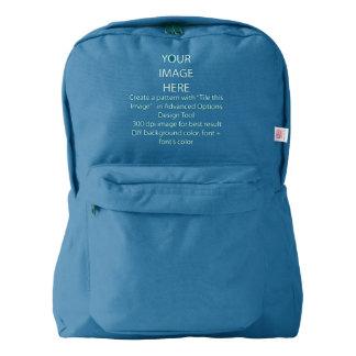 青いDIYのカスタムなアメリカ人Apparel™ American Apparel™バックパック