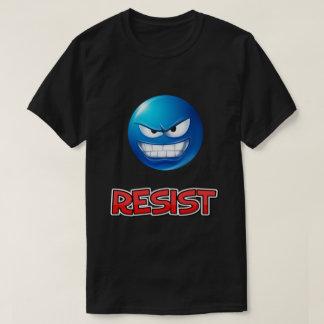 青いemojiは、抵抗します tシャツ