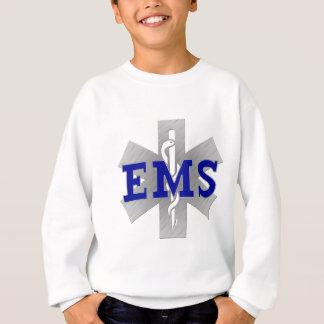 青いEMSの生命の銀製の星 スウェットシャツ