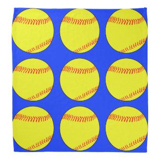 青いFastpitchのソフトボールのバンダナ バンダナ