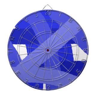 青いFestの抽象芸術のダート盤 ダーツボード