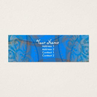 青いFloraliaのプロフィールカード スキニー名刺