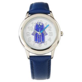 青いHamsa 腕時計