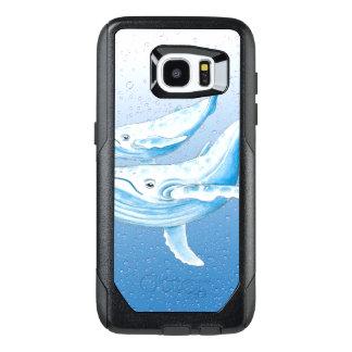 青いHumpbacks Waterdrops オッターボックスSamsung Galaxy S7 Edgeケース