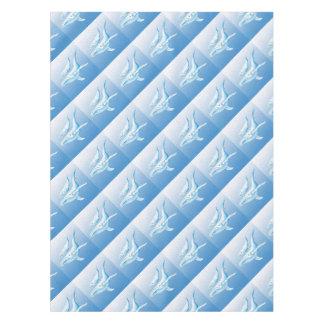青いHumpbacks Waterdrops テーブルクロス