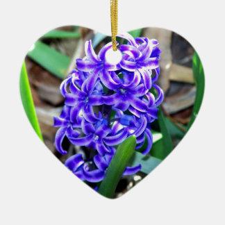 青いHyacinthの花 セラミックオーナメント