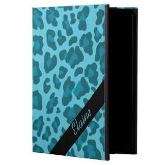 青いiPadの空気箱のヒョウのプリントの陰 Powis iPad Air 2 ケース