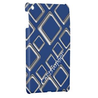 青いiPad Miniケースのテンプレートの銀製の正方形 iPad Miniケース