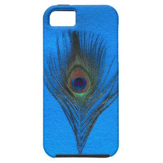 青いiPhone 5のVibeの箱の孔雀の羽 iPhone SE/5/5s ケース
