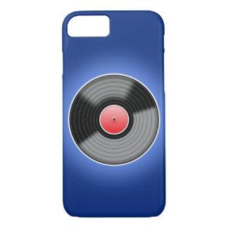 青いiPhone 7の箱のレコード iPhone 8/7ケース
