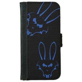 青いJ.Rabbitのロゴの電話箱 iPhone 6/6s ウォレットケース
