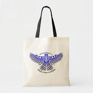 青いKarearea (《鳥》ハヤブサ)のデザインのバッグ トートバッグ