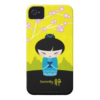 青いkokeshi -平静-ブラックベリーの箱 Case-Mate iPhone 4 ケース