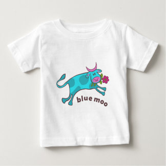 青いmoo ベビーTシャツ