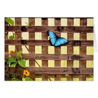 青いMorphoの蝶カード カード