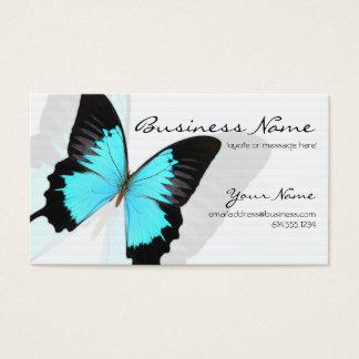 青いMorphoの蝶デザインの名刺 名刺