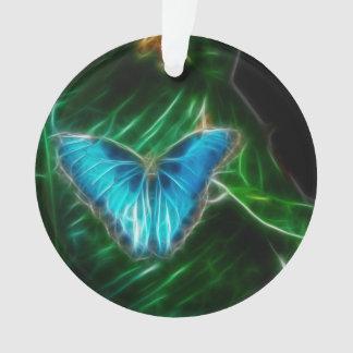 青いMorphoの蝶フラクタル オーナメント