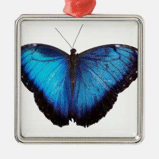 青いMorpho Butterflie メタルオーナメント