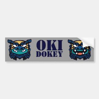 青いOki Dokey バンパーステッカー