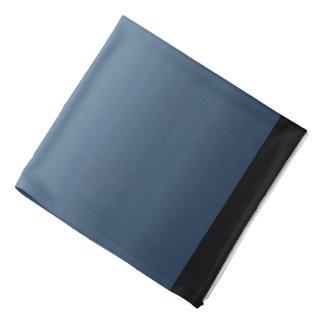 青いPayneの灰色の水彩画パターングラデーションな灰色 バンダナ