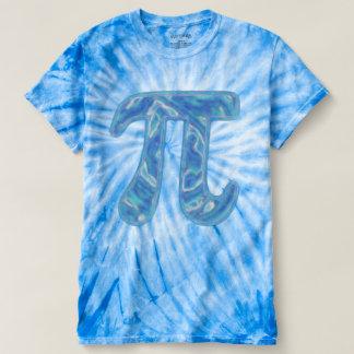 青いPiの染料 Tシャツ