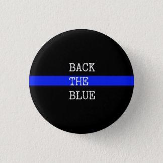 青いPinを支持して下さい 3.2cm 丸型バッジ