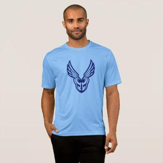 青いPoMのロゴの前部スポーツtek Tシャツ