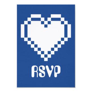 青いRSVPカードの複数競技者用モード カード