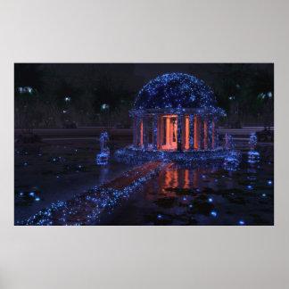 青いSeeress (夜)のドーム ポスター