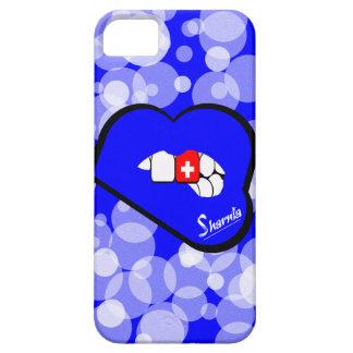 青いSharniaの唇のスイス連邦共和国の携帯電話の箱 iPhone SE/5/5s ケース