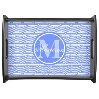 青いTribangleの威信のモノグラム トレー