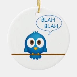 青いtwitterの鳥の話すこと セラミックオーナメント