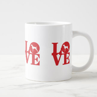 青いWEIMのデザインによるWEIM愛ジャンボマグ ジャンボコーヒーマグカップ