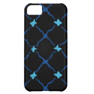 青いXは点を示します iPhone5Cケース
