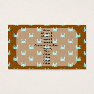青およびオレンジカニパターン 名刺