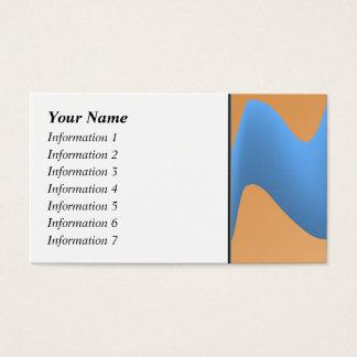 青およびオレンジ波のイメージの設計 名刺